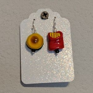 🍔🍟Hamburger and French Fries Earrings🍔🍟